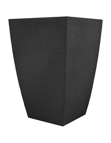 Tusco Products Two-Pack Modern Planter-BLACK-One Size