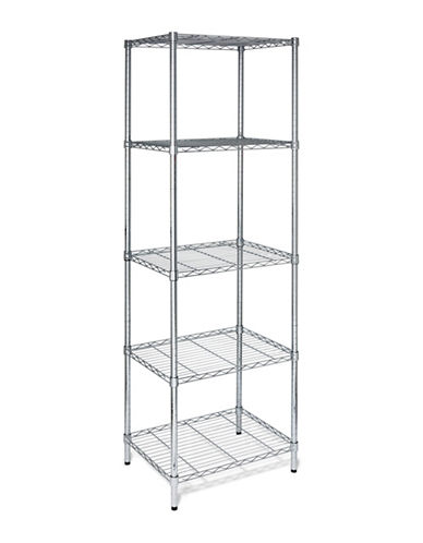Honey Can Do Five-Tier Adjustable Steel Storage Shelving Unit-CHROME-One Size