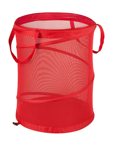 Honey Can Do Large Pop Open Hamper-RED-One Size