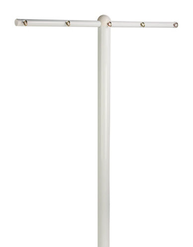 Honey Can Do Five-Line T-Post Dryer-WHITE-One Size