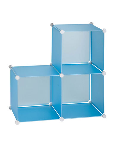 Honey Can Do Pack of Three Storage Cubes-BLUE-One Size