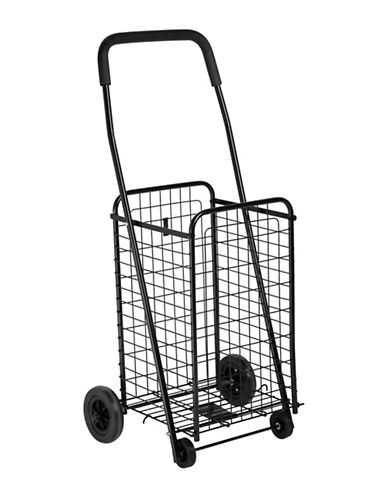 Honey Can Do Rolling Four Wheel Utility Cart-BLACK-One Size