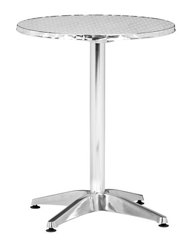 Zuo Modern Christabel Folding Table-SILVER-One Size