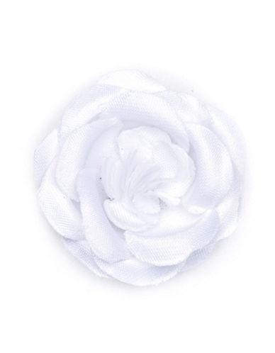Hook + Albert Snow White Lapel Flower-WHITE-One Size