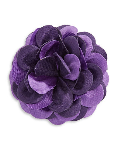 Hook + Albert Large Flower Lapel Pin-PURPLE-One Size