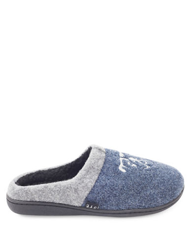 Ugly Me Brand Joel Closed Back Mule Slippers-BLUE-Medium