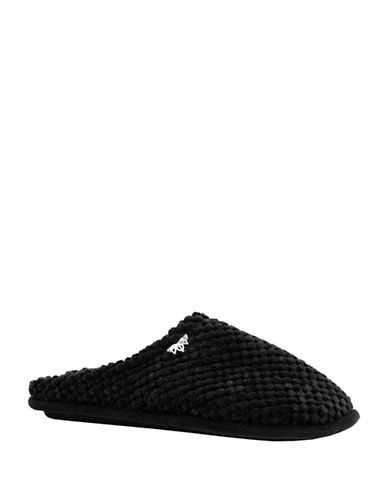 Pretty You London Sara Soft-Touch Slippers-BLACK-Small