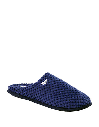 Pretty You London Sara Soft-Touch Slippers-BLUE-Medium
