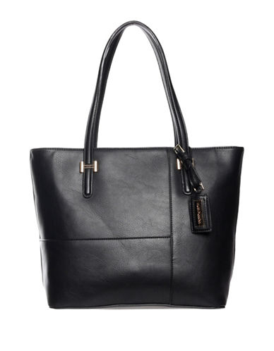Hush Puppies Effie Textured Tote-BLACK-One Size