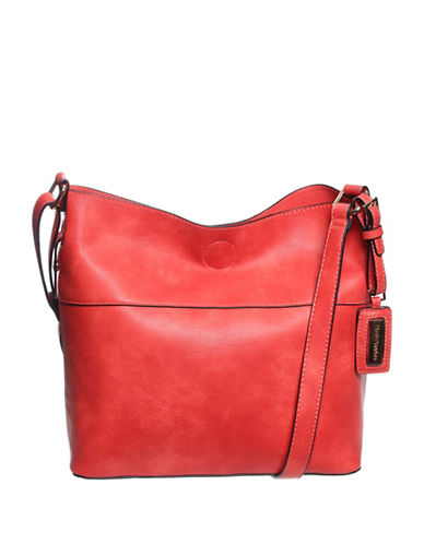 Hush Puppies Kendrick Textured Hobo-RED-One Size