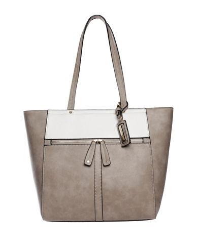 Hush Puppies Cassale Two Tone Tote-TAUPE/WHITE-One Size