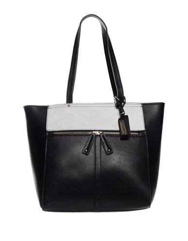 Hush Puppies Cassale Two Tone Tote-BLACK/GREY-One Size