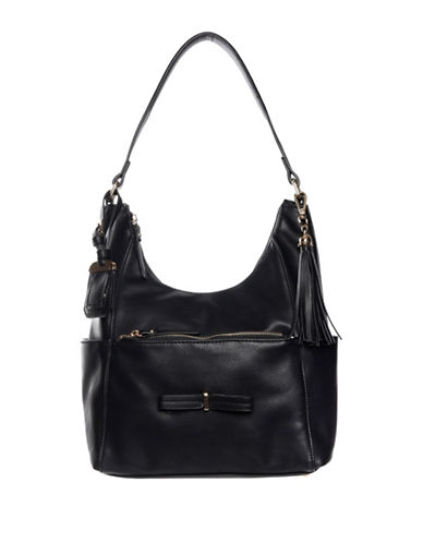 La Diva Brazil Bow Hobo Bag-BLACK-One Size