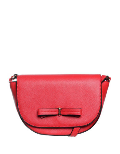 La Diva Brazil Bow Crossbody Saddle Bag-RED-One Size