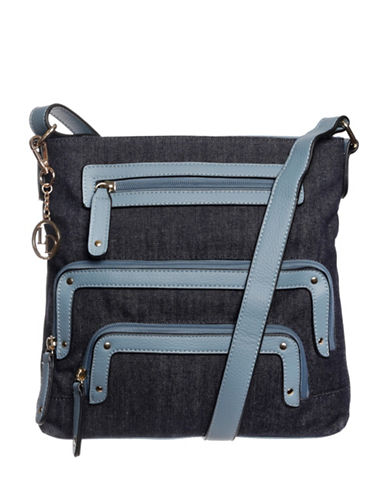 La Diva Cassandra Crossbody Bag-DENIM-One Size