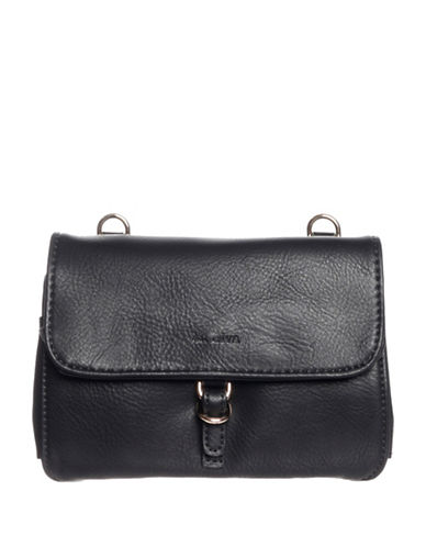 La Diva Kennedy Multi Compartment Crossbody Bag-BLACK-One Size