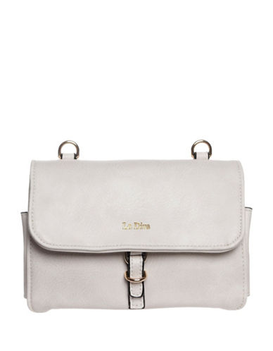 La Diva Kennedy Multi Compartment Crossbody Bag-WHITE-One Size