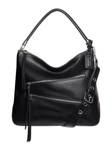 Hush Puppies Bett Hobo Bag-BLACK-One Size