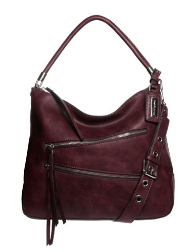 Hush Puppies Bett Hobo Bag-BORDEAUX-One Size