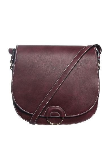 Hush Puppies Mae Saddle Bag-BORDEAUX-One Size