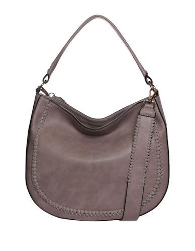 La Diva Piper Hobo Bag-STONE-One Size
