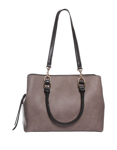 La Diva Ireland Shoulder Bag-GREY-One Size