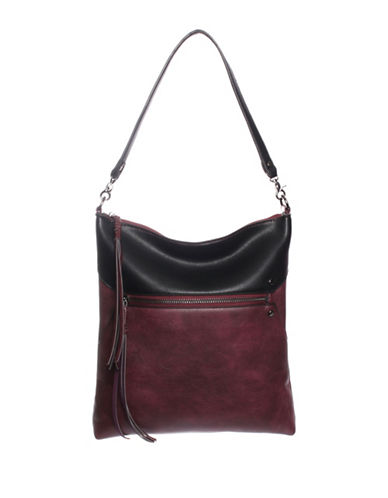 La Diva Austin Crossbody Bag-BORDEAUX BLACK-One Size