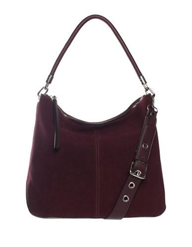La Diva Leon Suede Hobo Bag-BORDEAUX SAND-One Size