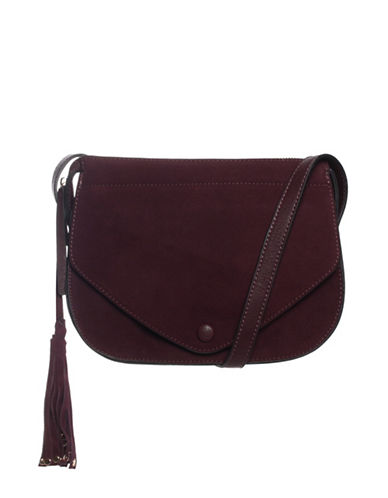 La Diva Suede Yuna Crossbody Bag-BORDEAUX-One Size