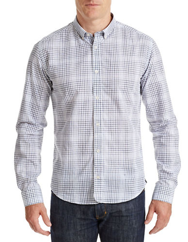 Bespoken Eldridge Checked Button Shirt-GREY-Large