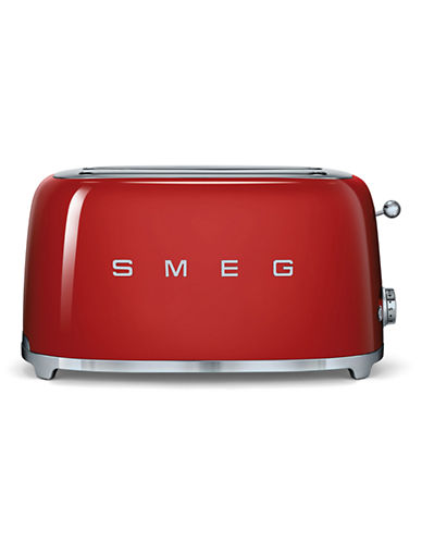 Smeg 4-Slice Toaster-RED-One Size