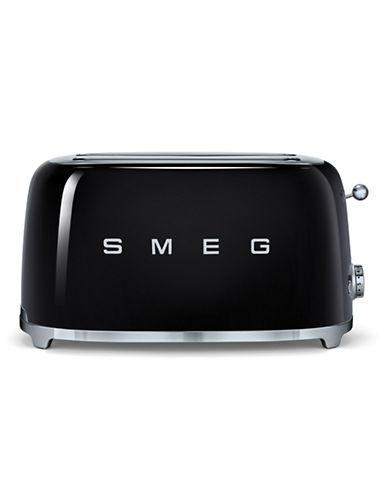 Smeg 4-Slice Toaster-BLACK-One Size