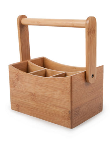 Core Home Bamboo Cutlery Caddy-NATURAL-One Size