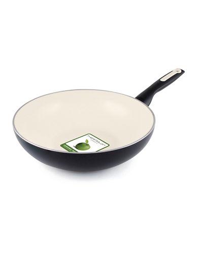 Green Pan Rio 28cm Healthy Non-Stick Ceramic Wok-BLACK-28 cm