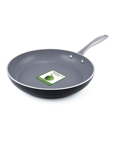 Green Pan Milan 3D 30cm Ribbed Open Fry Pan-GREY-One Size