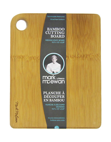 Mark Mcewan By Greenpan Mark McEwan by fresco Furled Bamboo Medium Utility Cutting Board-BROWN-One Size