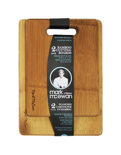 Mark Mcewan By Greenpan Mark McEwan by fresco 2-Pack Furled Bamboo Cutting Boards-WOODEN-One Size