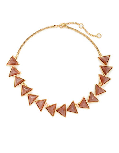 Gerard Yosca Allegheny Triangle Necklace-GOLD-One Size