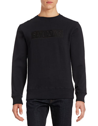Saturdays Surf Bowery Logo Sweatshirt-BLACK-Large 88375930_BLACK_Large