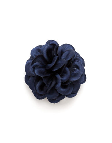 Hook + Albert Full Satin Lapel Flower-NAVY-One Size