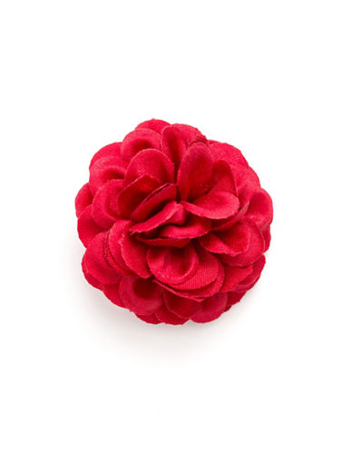 Hook + Albert Full Satin Lapel Flower-RED-One Size