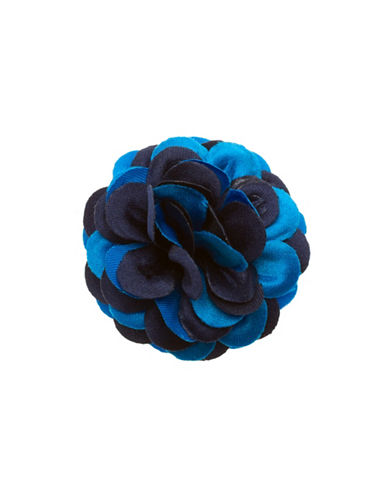 Hook + Albert Labrador Lapel Flower-BLUE-One Size