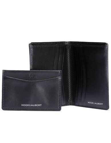 Hook + Albert Leather Bifold Wallet and Cardholder-BLACK-One Size