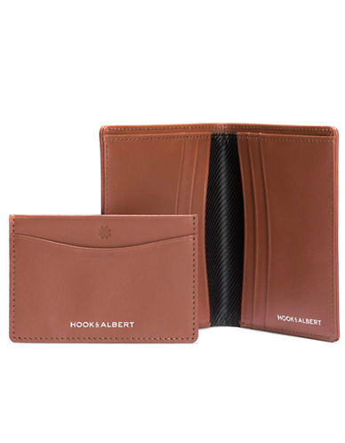 Hook + Albert Leather Bifold Wallet and Cardholder-BROWN-One Size