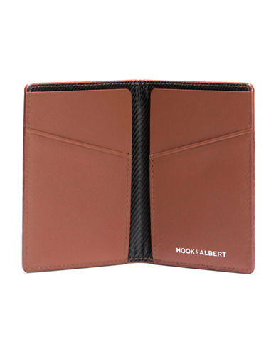 Hook + Albert Vertical Bifold Wallet-BROWN-One Size