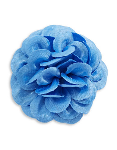 Hook + Albert Large Flower Lapel Pin-LIGHT BLUE-One Size