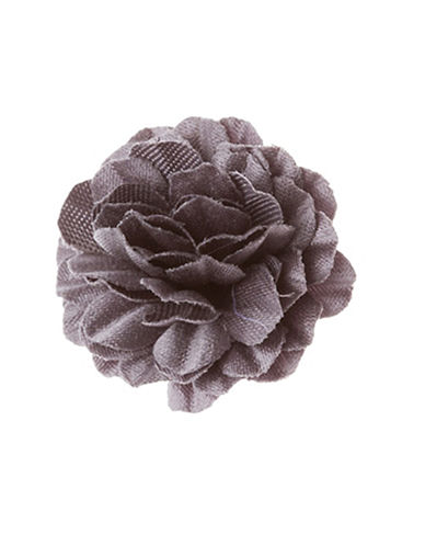 Hook + Albert Staple Lapel Flower-GREY-One Size