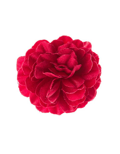 Hook + Albert Staple Lapel Flower-RED-One Size