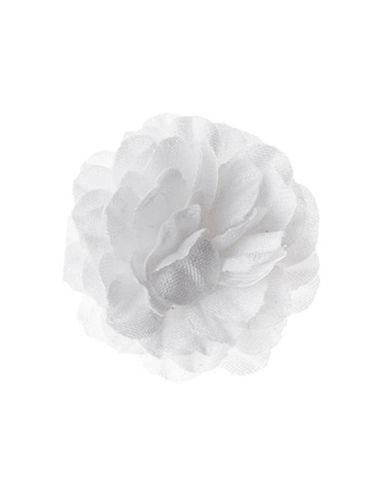 Hook + Albert Staple Lapel Flower-WHITE-One Size