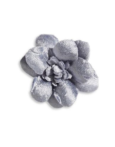 Hook + Albert Velvet Lapel Flower-BLUE-One Size